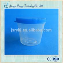 Copo de urina medicinal descartável de 40ml