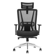 Chaise de bureau en maille avec repose-jambes