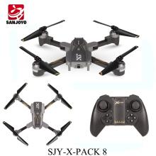 SJY-X-Pack 8 conjunto de altura de posicionamento do fluxo Óptico zangão dobrável wi-fi FPV zangão com 720 P HD câmera LED luz PK Eachine E58