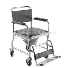 Chaise roulante pour fauteuil roulant en acier hospitalisé W003