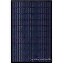 Panel Poly negro 260W para el mercado de Dinamarca con stock de la UE