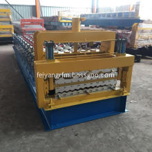 Fully automatic double layer deck roll forming machine