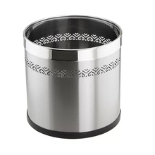 Open Top Stainless Steel Hollow Waste Bin