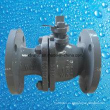 Válvula de bola de extremo de brida Wcb de acero de carbono moldeado ANSI 150 libras