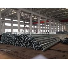 Poste de acero para transmisión de energía eléctrica galvanizado y con recubrimiento en polvo