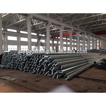 Poste de aço de transmissão de energia elétrica galvanizado e revestido a pó