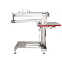 Máquina de coser de los bolsos del filtro de la cama del cilindro de la aguja del doble del brazo largo