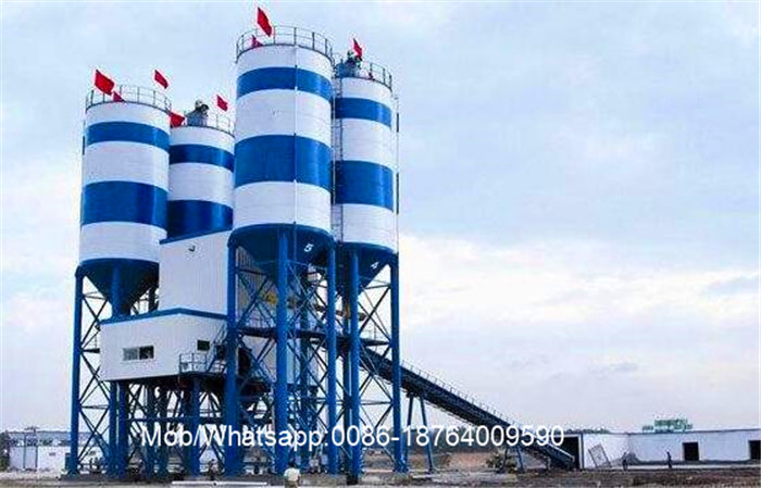 HZS50 100kw Concrete Batch Mix Plant