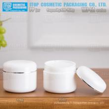 WJ-EA série 120g et 150g épaississement double paroi ronde pot plastique pp personnalisable de bonne qualité de couleur