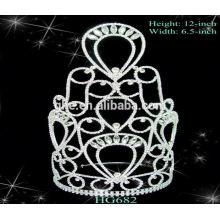 Tiara tiara de tiara romântica romântica para casamentos Quadro de fotos da coroa Tiaras de casamento baratas