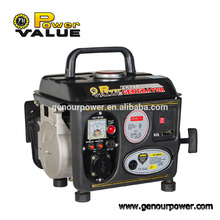 Power Value Small Portable 24v dc generador de gasolina portátil 950