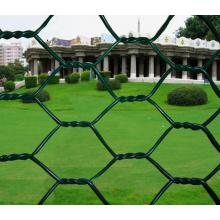 PVC revestido ou quente mergulhado galvanizado rede de fio hexagonal