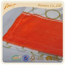 Impreso colorida bola de franela paño grueso y suave sábana con funda de almohada