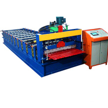 Building material roof sheet roll forming machine to make ibr corrugated sheets with hydraulic cutting