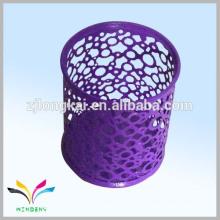 Канцелярские круглые металлические фиолетовый контейнер сетки ручка