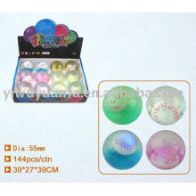 55mm High Glitter Led Bounce Water Ball
