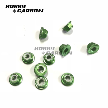 M3 Aluminum Flange Nuts Serrated for Racing