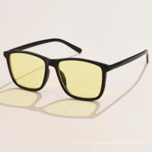 Nouvelles lunettes de soleil carrées rétro européennes et américaines Lunettes de soleil de rue à la mode pour hommes Lunettes de soleil transfrontalières pour hommes s21171