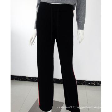 Pantalon de survêtement 100% cachemire de haute qualité fait sur commande pour des femmes