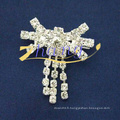 Vente en gros vente chaude mode simple conception strass broches