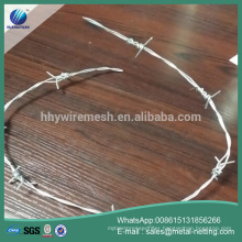barbed wire 2.2X2.0mm galvanized barbed wire Prickly barb wire