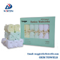 6-Pack 100% Organic Bamboo Baby Soft Wash cloths baby face towel terry cloth