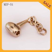 MZP51 Forme el tirador de la cremallera del metal, tirones de encargo de la cremallera, resbalador de la cremallera para la cremallera