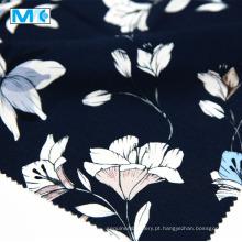 Alta qualidade 100% rayon impresso flores tecido