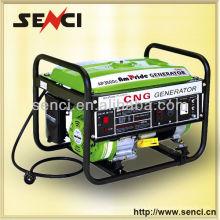 Venda quente Senci 6kw 14HP Utilização doméstica Gerador de gás natural Consumo de combustível