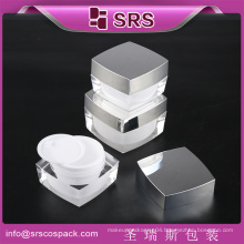 SRS cosmetic acrylic jar container ,cosmetic jar ,empty acrylic jar for face cream