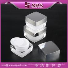 SRS cosméticos recipiente frasco acrílico, frasco de cosméticos, frasco de acrílico vazio para creme de rosto
