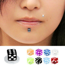 Mixte couleur UV Dice Magnetic Fake Labret