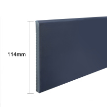 """S114-A, China manufacturer 4.5"""" rubber floor skirting board pvc wall baseboard"""