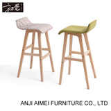 Nordic wooden bar stool AM-077 for bar table