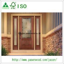 Porte en bois d'entrée extérieure 100% solide et inégale