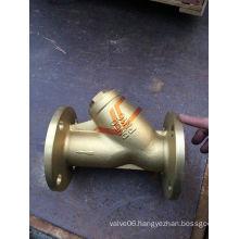 B62 Brass Y-Type Flange Strainer