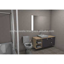 NEW ARRIVAL Affordable Design Bathroom Furniture, Grey Soft Touch surfaced Melamine Coated Mdf door and Carcass