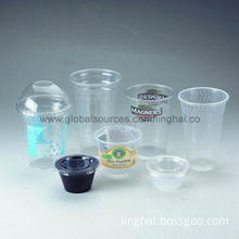 Disposable Cups, Made of Recyclable Plastic, Available in Various Sizes and Shapes