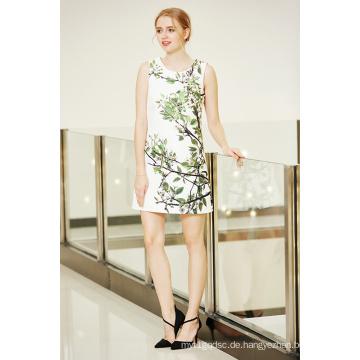 Eine Linie Einteiler Placement Printing Shift Kleid