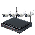 home security camera dvr with LCD screen WIFI NVR KIT camera surveillance