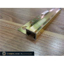 Aluminum Stair Norsing Protetive Anti Slip Trim with Bright Gold