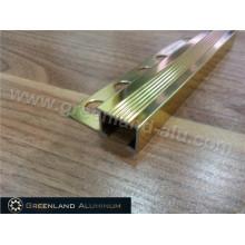 Alumínio Stair Norsing protetor anti deslizamento Trim com ouro brilhante