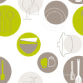 Neue Entwurfs-PVC-Drucktischdecke mit Gewebe-Unterstützung LFGB Fabrik-Großverkauf