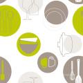 Nuevo diseño de PVC impreso Mantel con tejido respaldo LFGB fábrica al por mayor