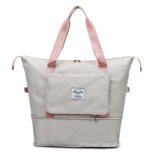 Large capacity waterproof durable polyester women men luggage foldable travel bag sport bag gym men
