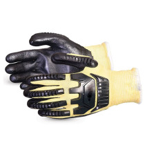 Inner cotton stylish working gloves with PVC