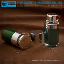 Hot-vente délicate et belle couleur personnalisable tour doubles couches bonne qualité 15ml flacon pompe airless lotion acrylique