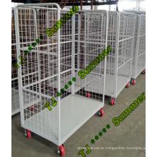 Carrinho de mão para logística / gaiola com 4 rodas
