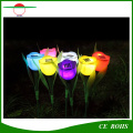 Luz solar decorativa solar Tulip LED Light Grden luces solares decorativas del césped