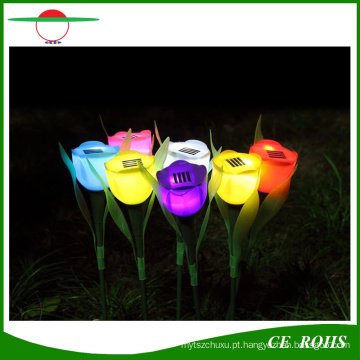 Luzes solares decorativas solares do gramado de Grden da luz colorida posta solar da tulipa da flor